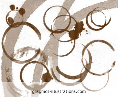 coffee stains photoshop brushes digital stamps