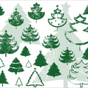 Christmas Trees Grunge Photoshop brushes