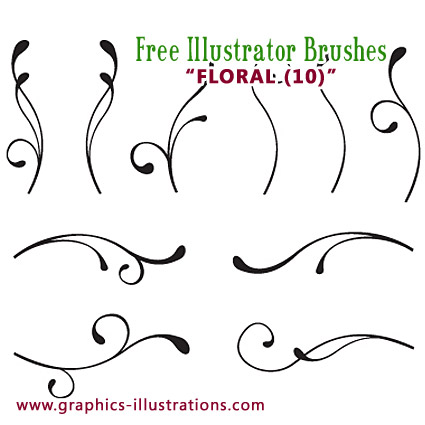Floral Illustrator brushes