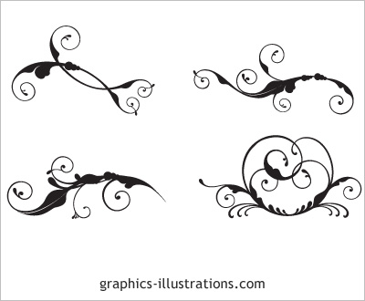 Swirls set for Photoshop, CorelDraw! and Illustrator