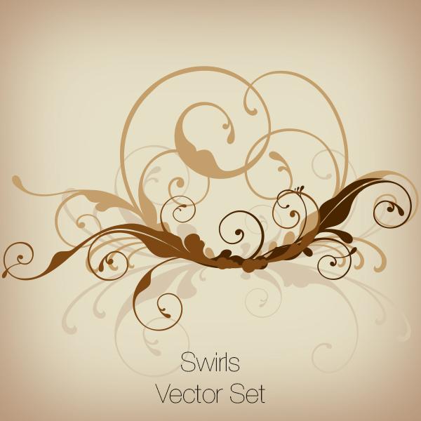 Swirls Vector Set, Discounted!