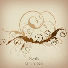 Swirls Vector Set