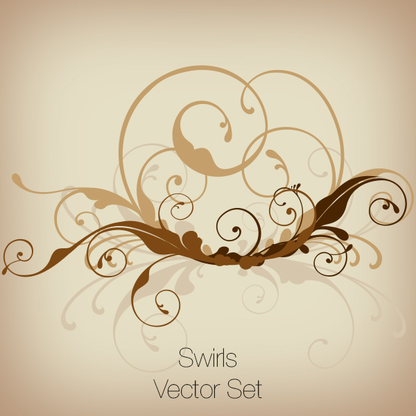 Swirls Vector Set