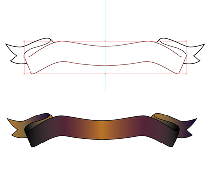 Tutorial: How to draw a banner (scroll) in Illustrator