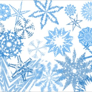 Grunge Snowflakes Photoshop Brush