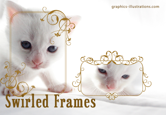 Swirled frames, Photoshop brushes set