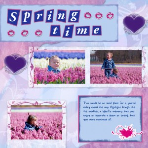 Scrapbooking Tutorial: Children in Spring