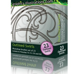 Outlined Swirls Photoshop Brushes. Lookin' Better Than Ever!