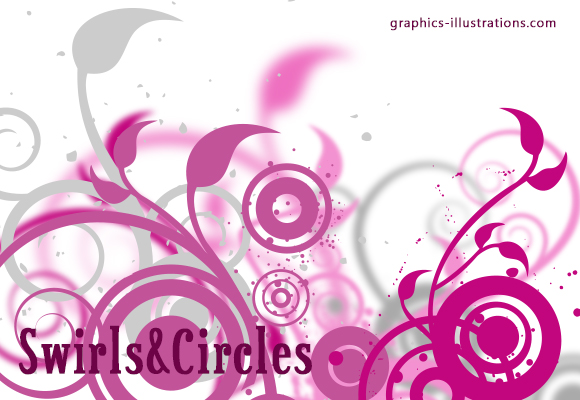Swirls and Circles Photoshop Brushes Set