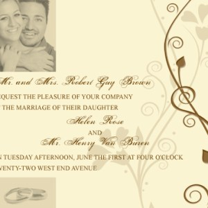 Wedding Invitation Tutorial – Photoshop Brushes in Action