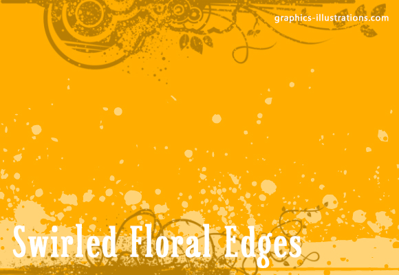 Photoshop Brushes: Swirled Floral Photographic Edges