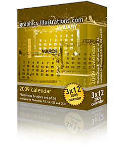 New free add-on to my latest Calendar 2009 Photoshop brush