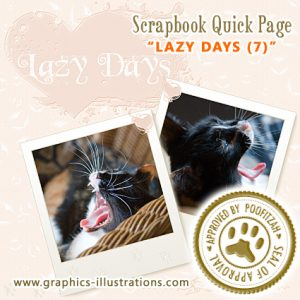 Digital Scrapbook Quick Page Lazy Days (Approved by Poofitzah)