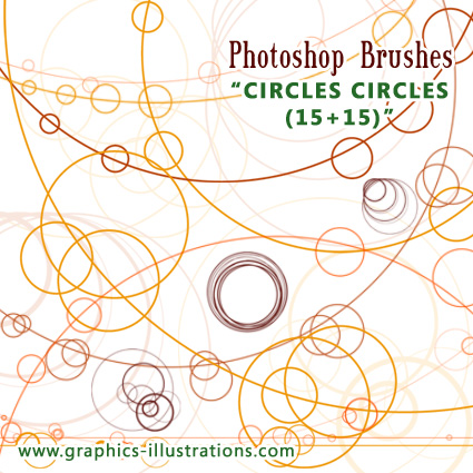 Circles circles, Photoshop Brushes set: LITE free edition