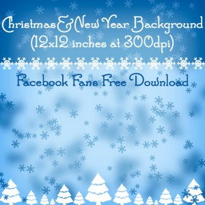Christmas / New Year Background for our Facebook Fans