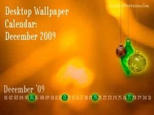 Desktop Wallpaper Calendar: December 2009