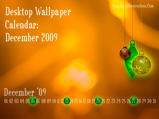 Desktop Wallpaper Calendar: December 2009