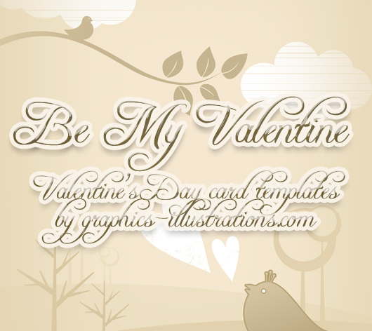 Valentine's Day card templates