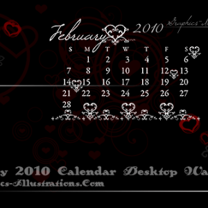 February 2010 Desktop Wallpaper Calendar