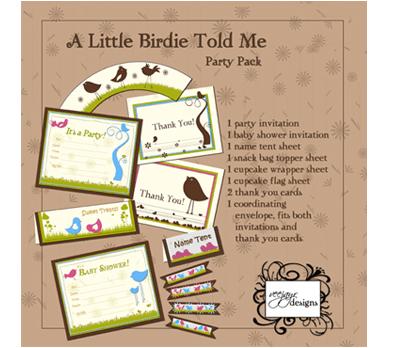 Party Scrapbook Kit Little Birdie Told Me