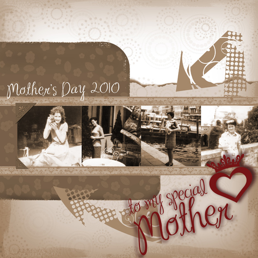 Mother's Day Digital Scrapbooking Quick Page