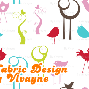 Digital Stamps (Photoshop Brushes) and Fabric Design