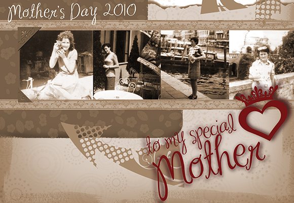 Mother's Day Photoshop Brushes - Digital Stamps