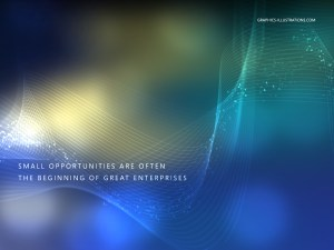 Desktop Wallpaper - The World is Full of Opportunities