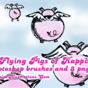 The Flying Pigs of Happiness, Photoshop Brushes