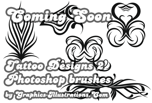 Coming Soon: Photoshop brushes set – Tattoo Designs 2