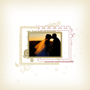 Free Wedding Digital Scrapbook Quick Page