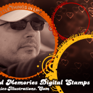 Photoshop brushes and memories, burning, gold memories…