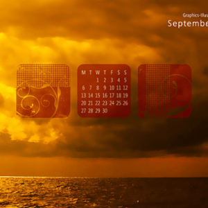 September Desktop Wallpaper Calendar – Free Download