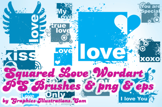 Special Mini Pack: Squared Love Word Art