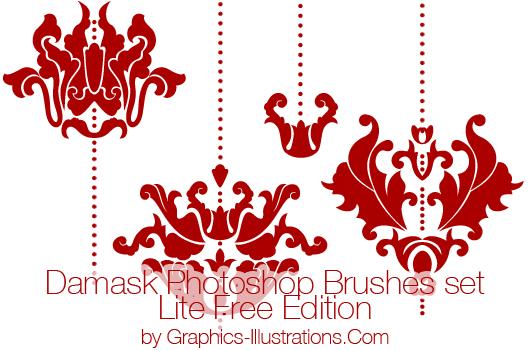 Damask Photoshop brushes (Digital stamps)