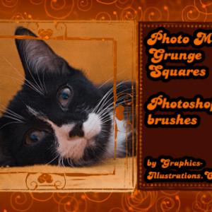 Photo Masks – Grunge Squares New Photoshop brushes set