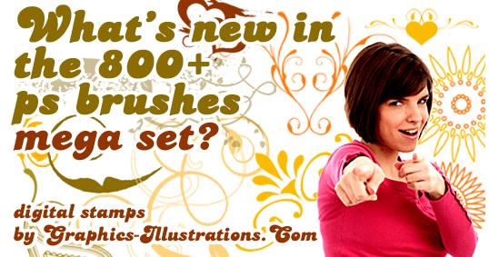 800+ Photoshop brushes MEGA SET
