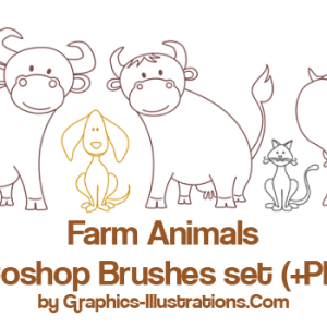 Farm Animals – Commercial Use Photoshop brushes