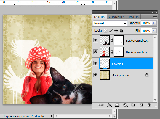 Funky Collage Birthday Card, Photoshop Tutorial