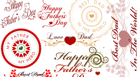 Father's Day Wishes Photoshop brushes