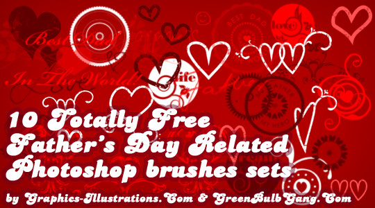 10 Free Father's Day Photoshop Brushes Sets; [Set 5/10]