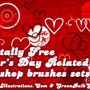 10 Day Photoshop Brushes Sets Quest; Stickers set [Set 7/10]