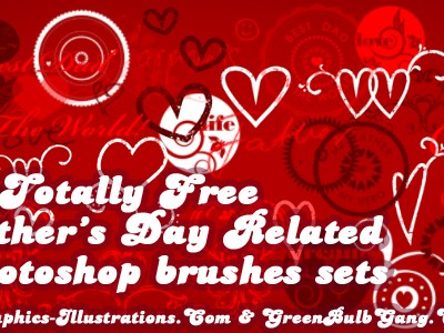 10 Free Father's Day Photoshop Brushes Sets; [Set 10/10]