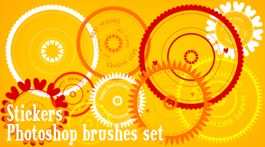 Stickers Photoshop brushes