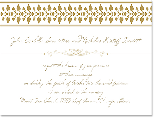 Wedding Invitation Template Design [Free Download]