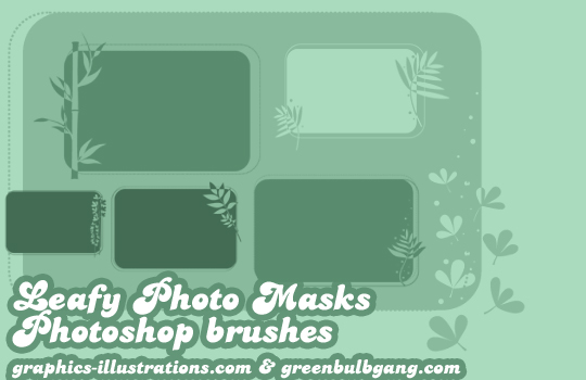 Leafy Photo Masks: Photoshop Brushes and Digital Stamps