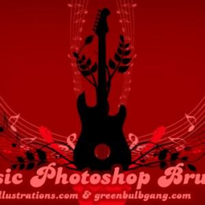 New Free Photoshop Brushes Set: Musical Symbols