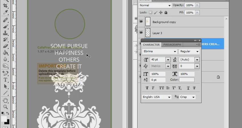 iPhone case design how to, Photoshop brushes