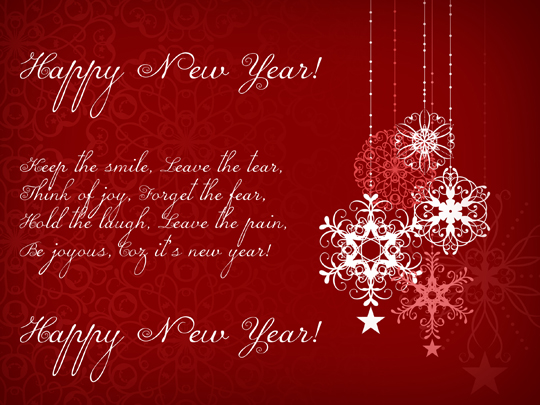 Card  New Year Greeting Card Template