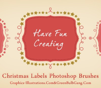 Do It Yourself - Christmas Labels (Free Photoshop Brushes set)